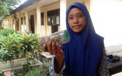 Lusi just ecobricked 254g of plastic out of the Tuban, Indonesia biosphere