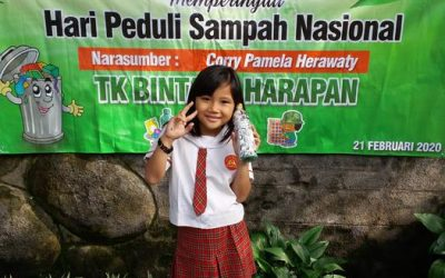 """""""save our earth from plastic waste"""" by KB TK Bintang Harapan ecobricking in Indonesia"""