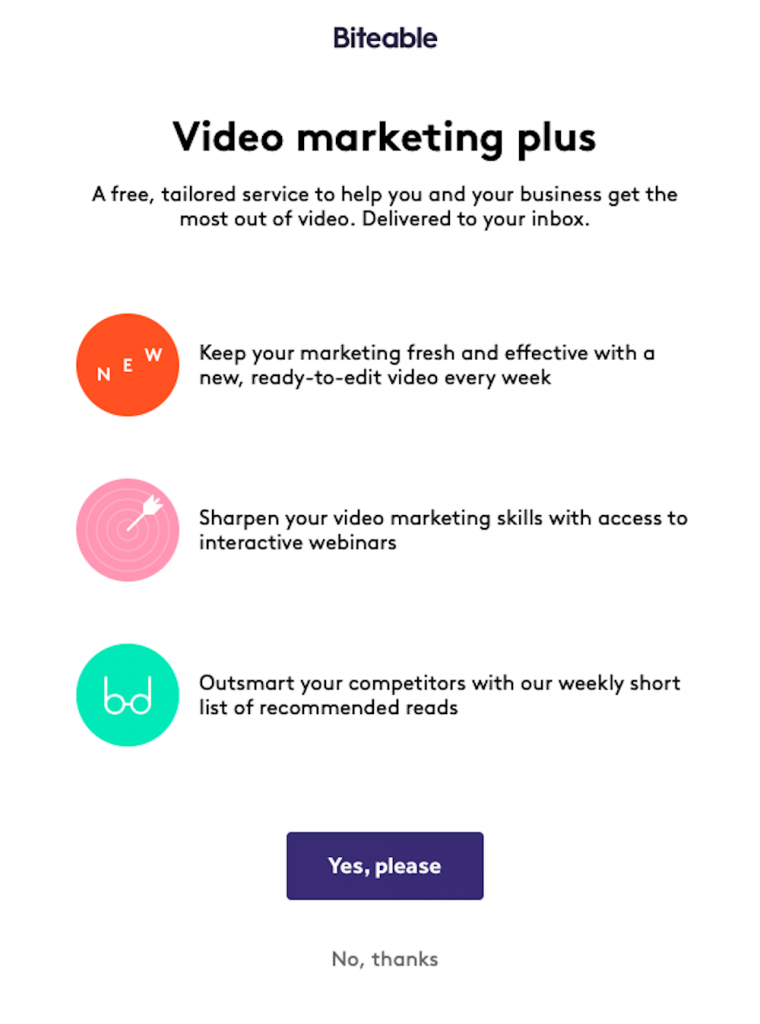 Biteable video marketing
