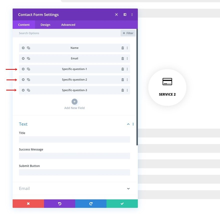targeted contact forms