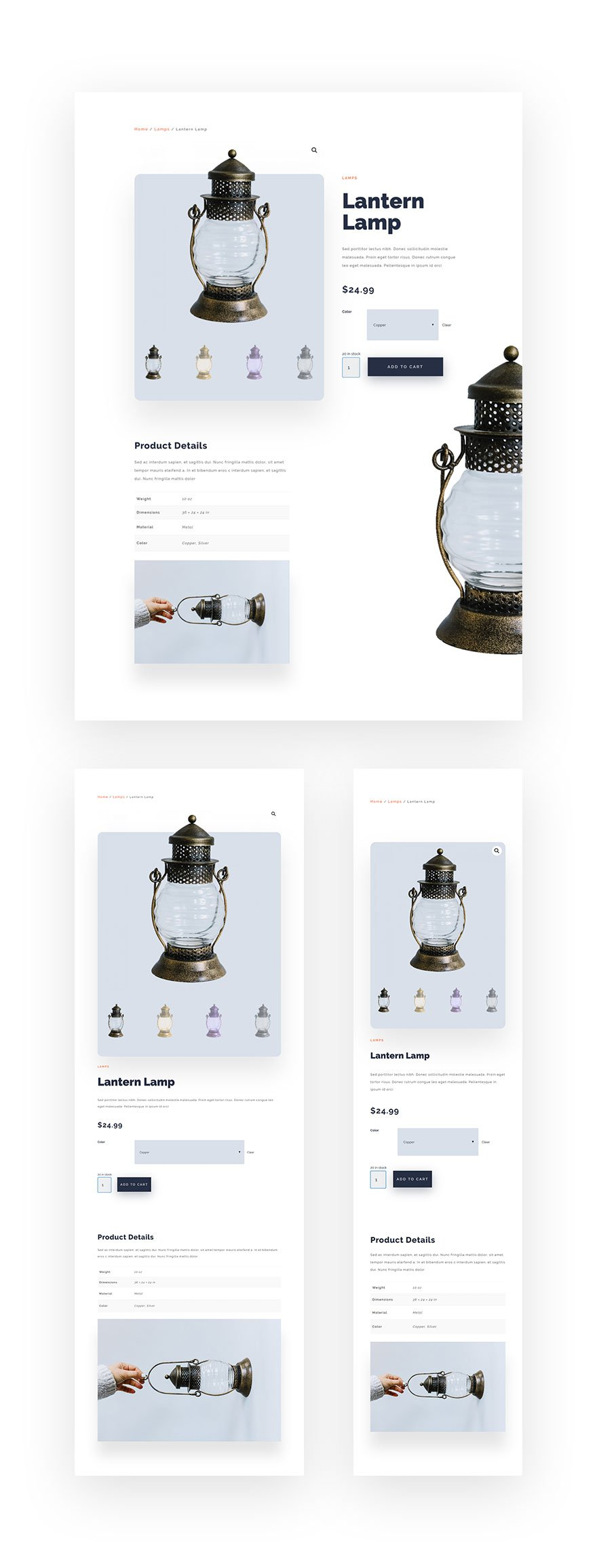 Minimal Product Page