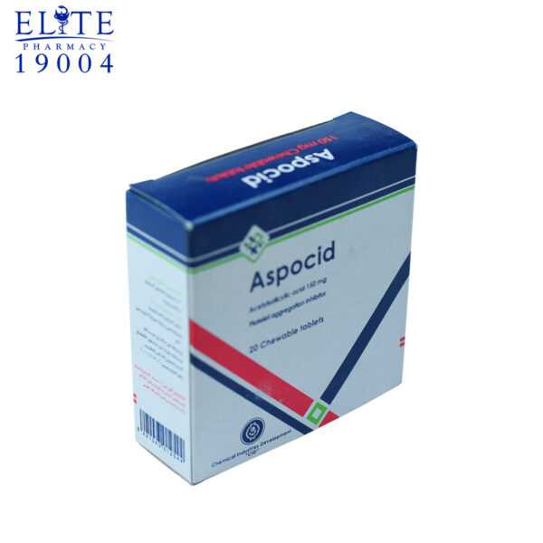 Aspocid 150 Mg Chewable Tablets To Reduce Thromboembolism 1