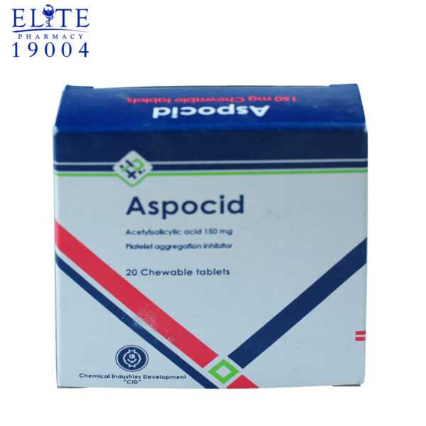 Aspocid 150 Mg Chewable Tablets To Reduce Thromboembolism 3