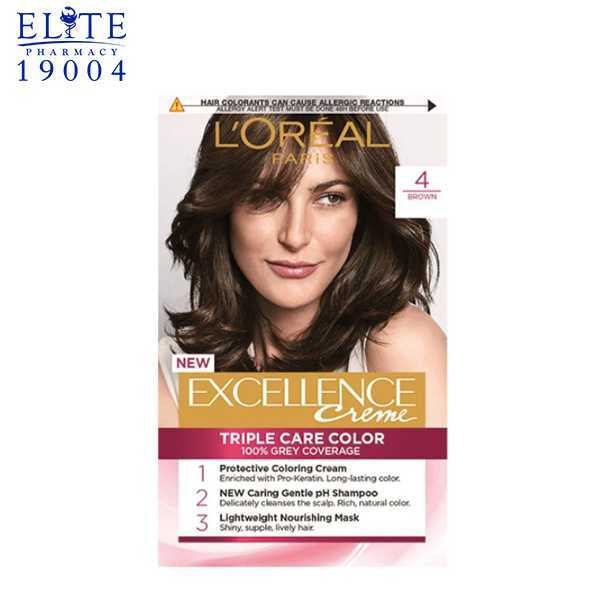 Loreal Excellence Cream No.4 Natural Brown | Elite Pharmacy 1
