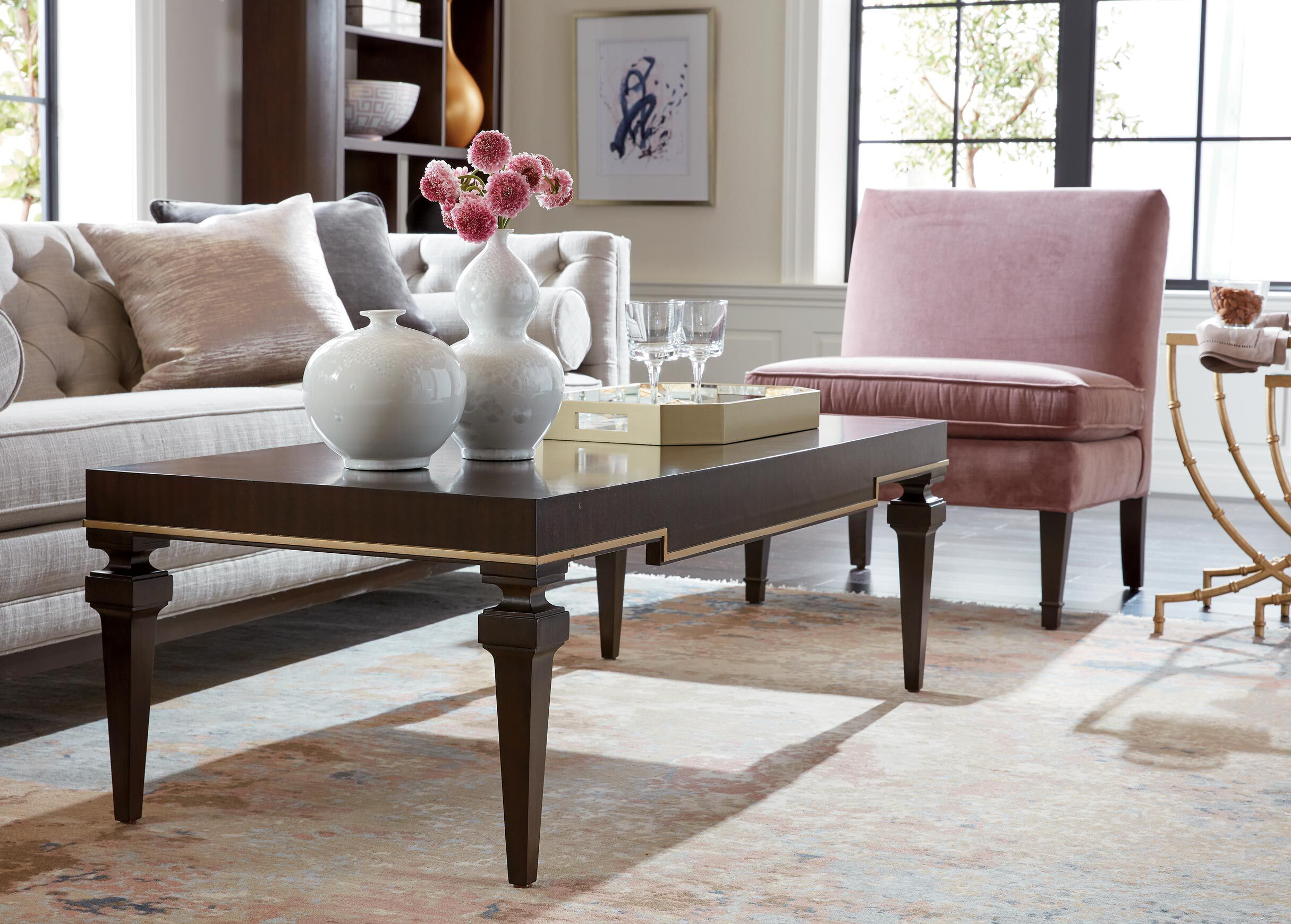 Broderick Rectangle Coffee Table Decorative Wood Coffee Tables