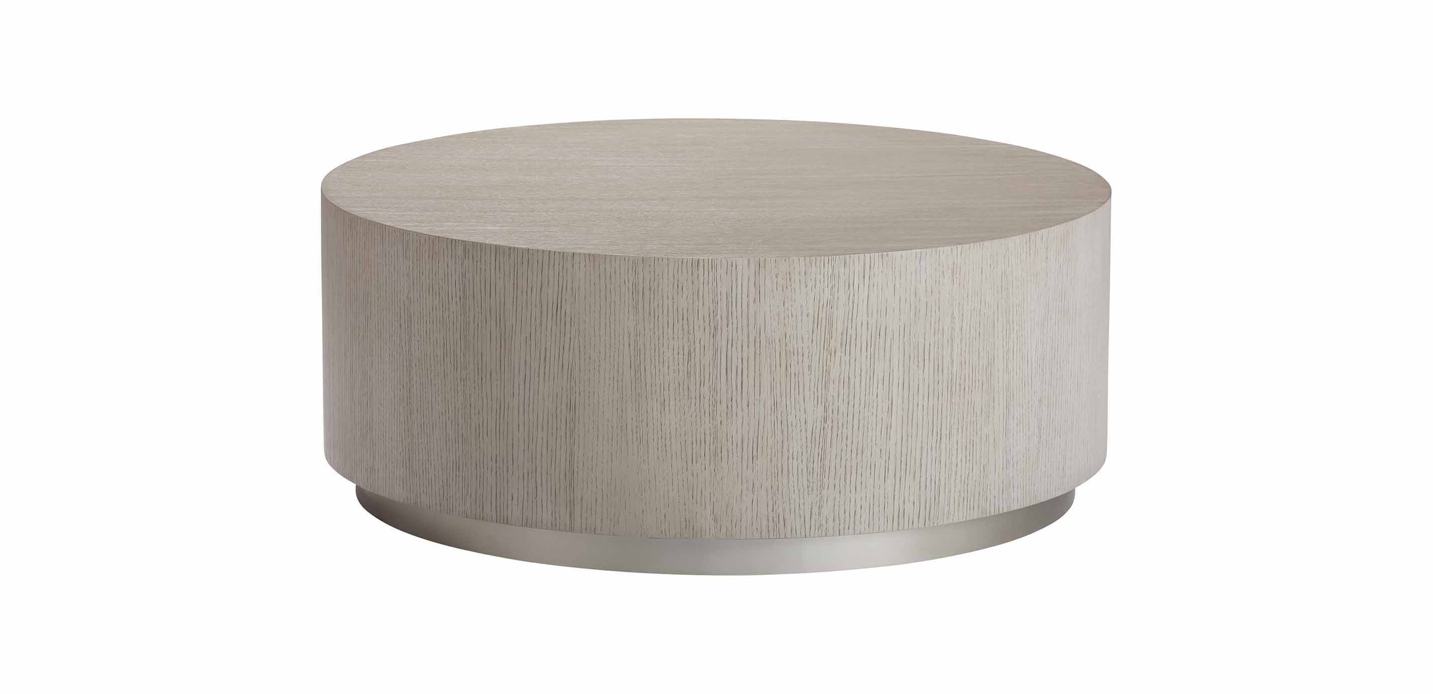 Braemore Round Coffee Table Plinth Coffee Table Ethan Allen