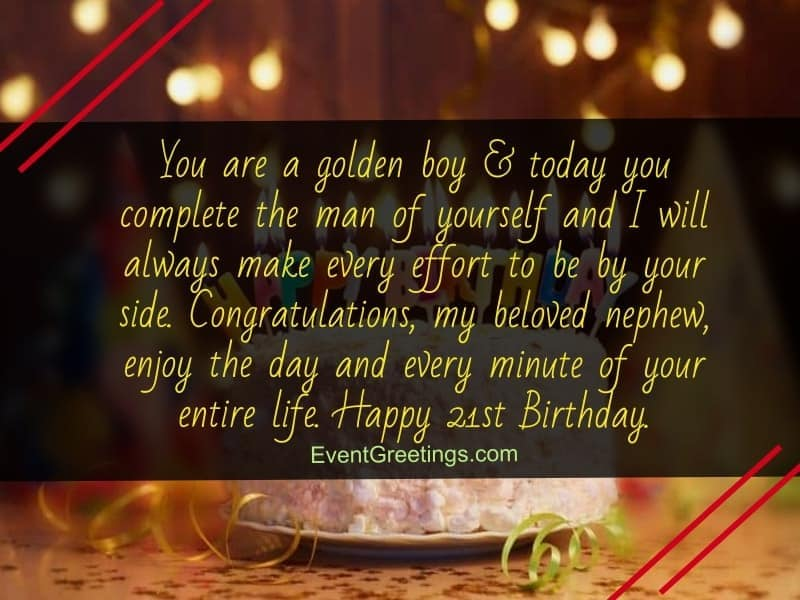 Happy 21st Birthday Quotes And Wishes With Love Events Greetings