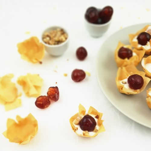 yogurt cherry phyllo cups