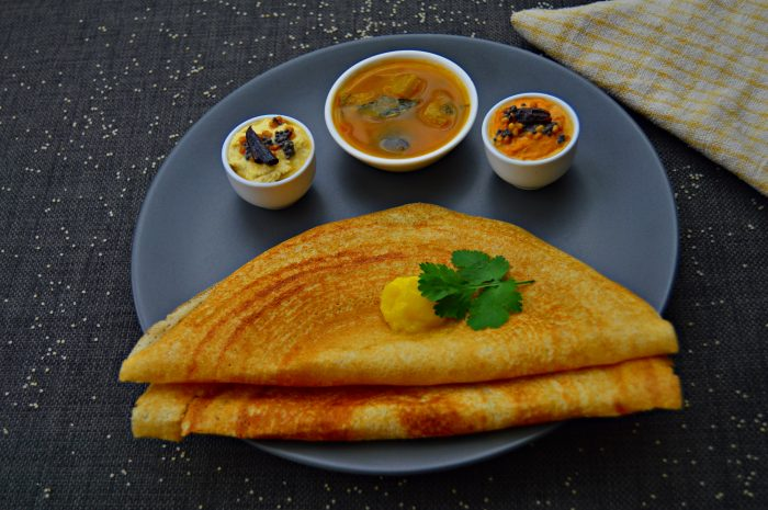 close up shot of millet dosa