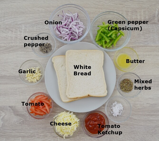 ingredients in a bowl placed on table.