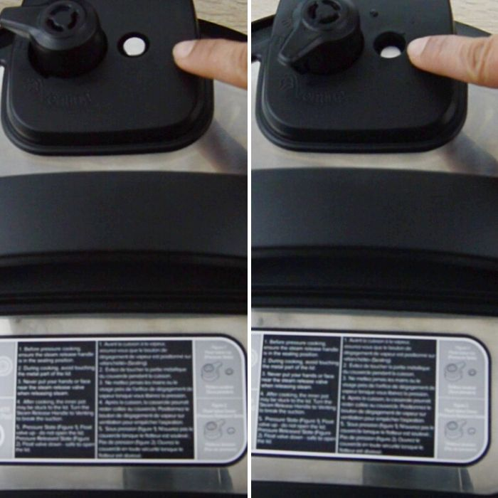 vent valve position before and after releasing pressure.