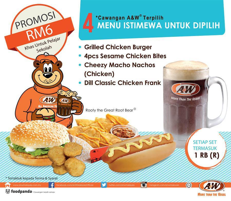 A&W Promotion for Student