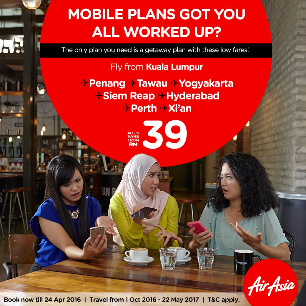 AirAsia RM39 All-in-fares Promotion