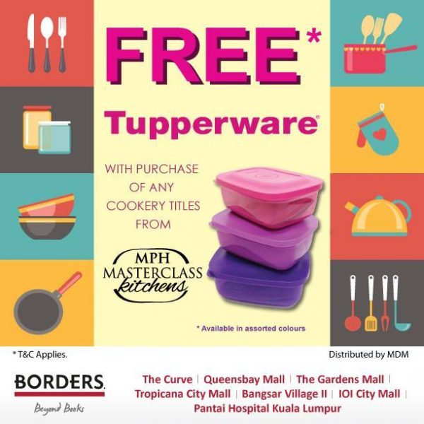 Free Tupperware from Borders