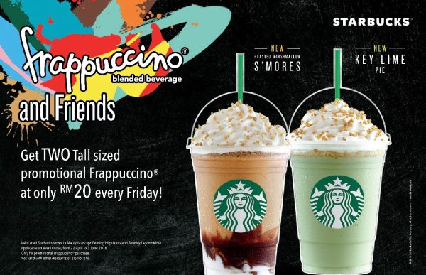 Starbucks Promotion - 2 tall Frappuccino for RM20
