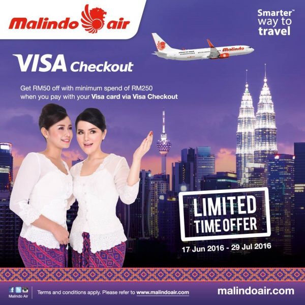Malindo Air RM50 OFF with Visa Checkout