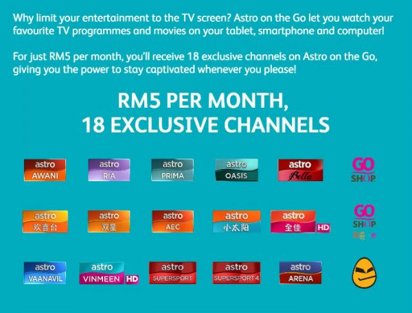Get Astro On the Go for only RM5