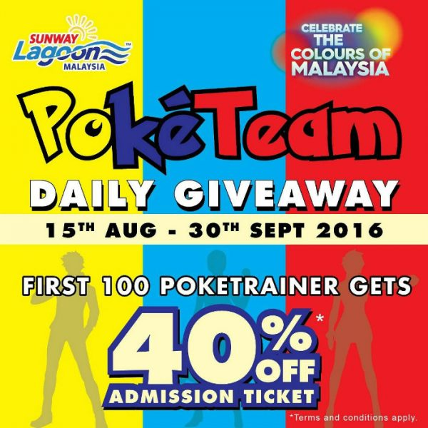 Pokemon Trainer Giveaway in Sunway Lagoon