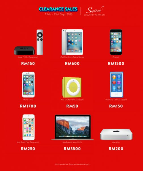 Apple Clearance Sales