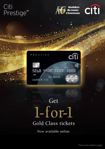BUY 1 FREE 1 Gold Class Tickets
