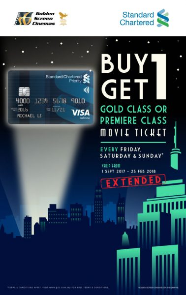 Standard Chartered BUY 1 FREE 1