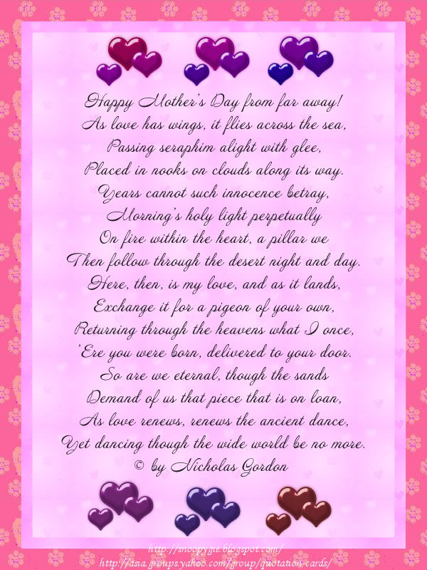 Moms And Daughter Poems 5