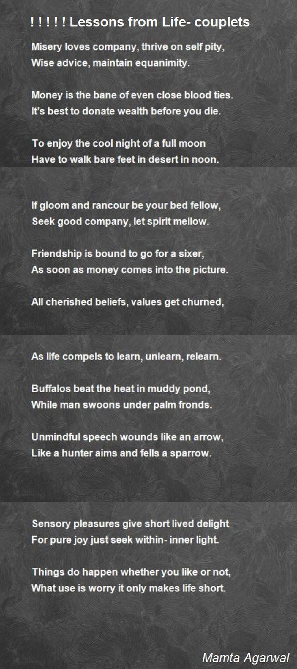 Couplets Poems 6