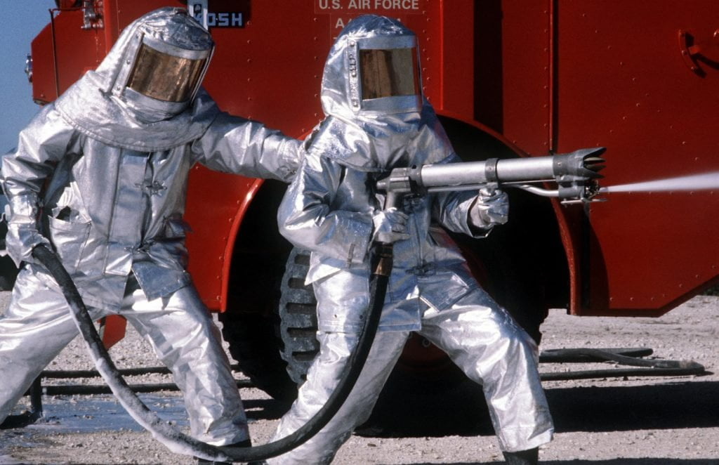 Apollo, fireproof suits