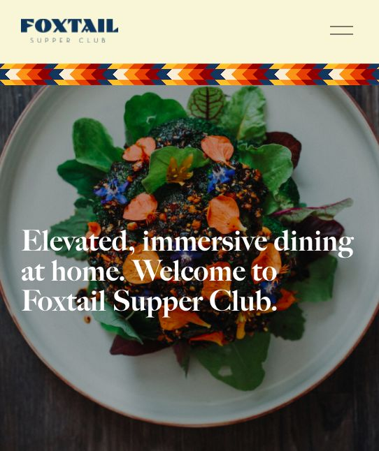 foxtail Supper Club, remote restaurant for virtual dinners