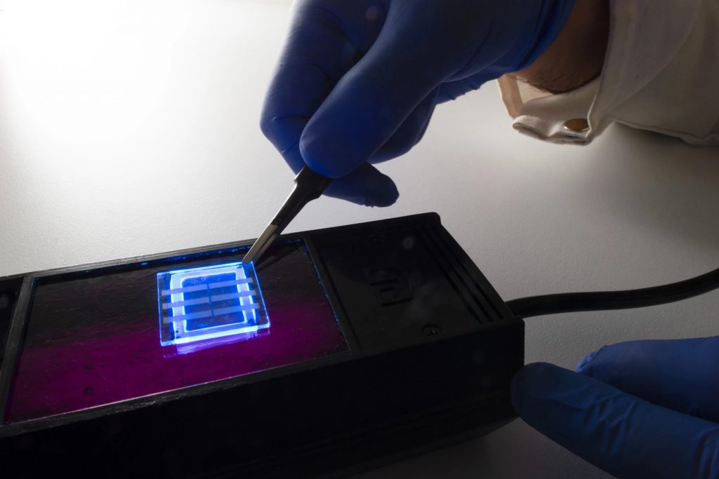OLED screen made with hair
