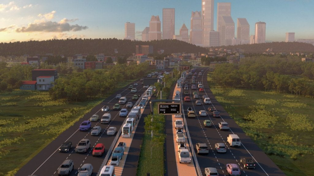 Road of the future, the road for autonomous vehicles that the Cavnue startup designs between Detroit and Ann Arbor