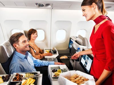 In-flight meals with home delivery