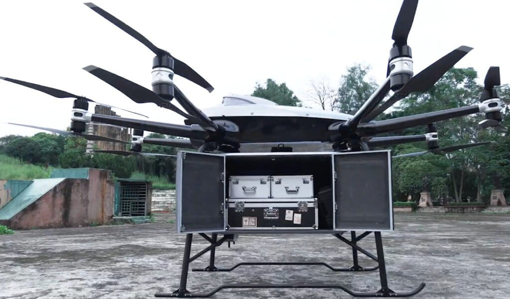 EHang delivery drone, a record payload of almost 200kg