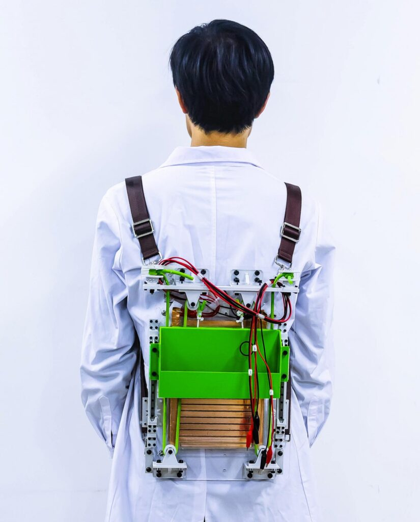 backpack that lightens the load and recharges devices