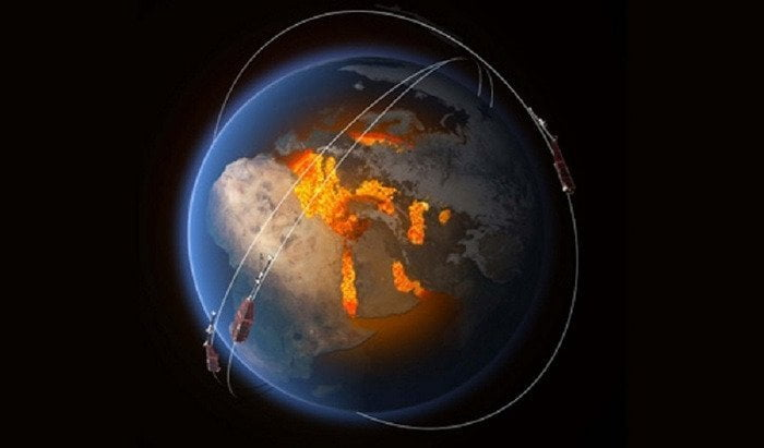 Extinction of Neanderthals and magnetic pole reversal