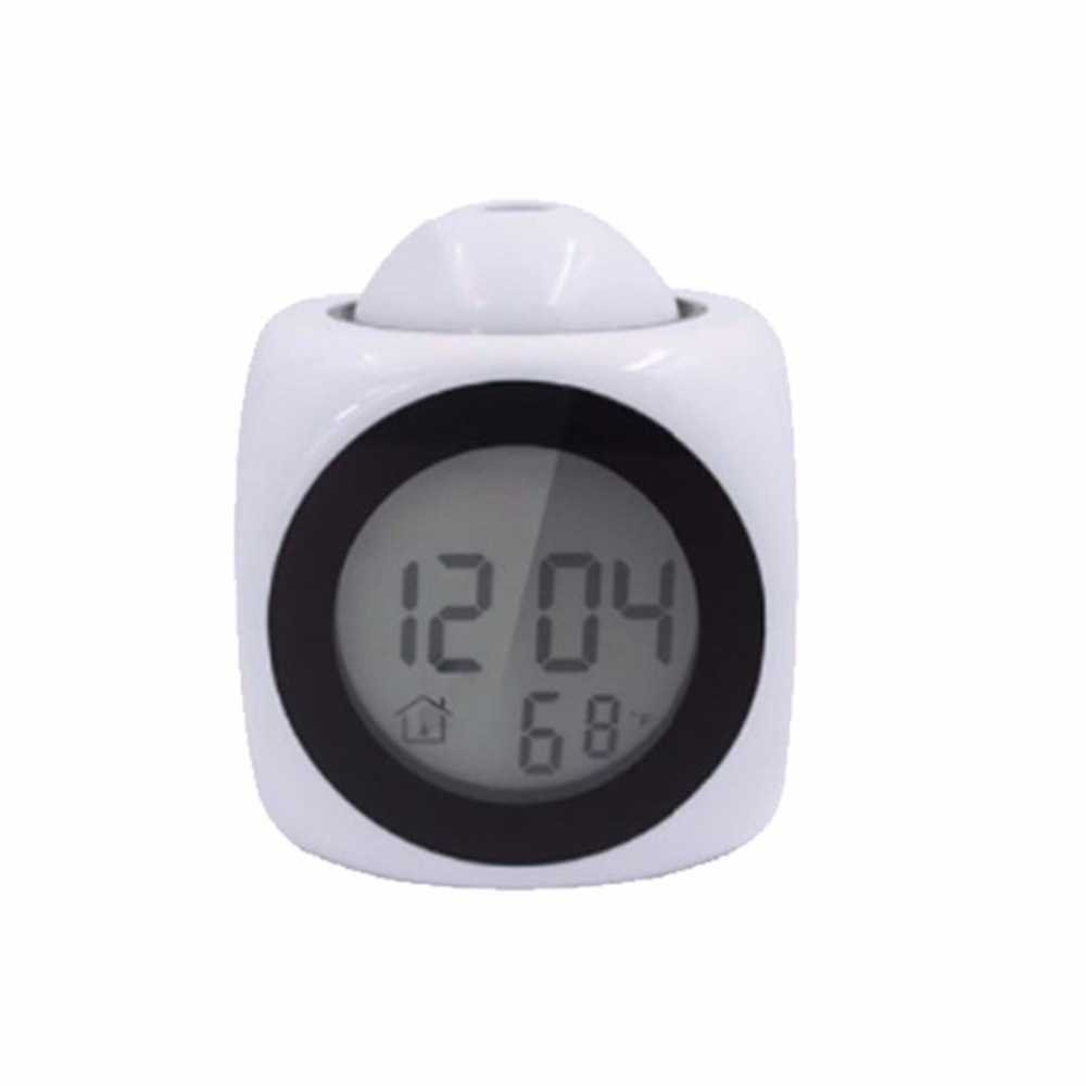 digital alarm clock with lcd projection led display time & talking voice prompt