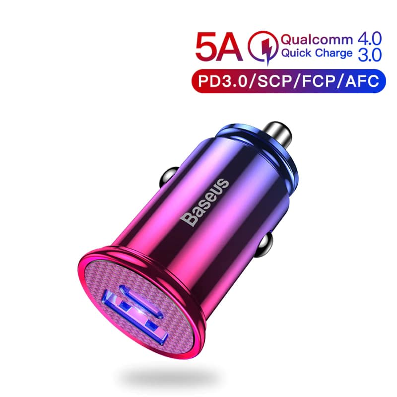 Baseus 30W Quick Charge 4.0 3.0 USB C Car Charger For Mobile Phones