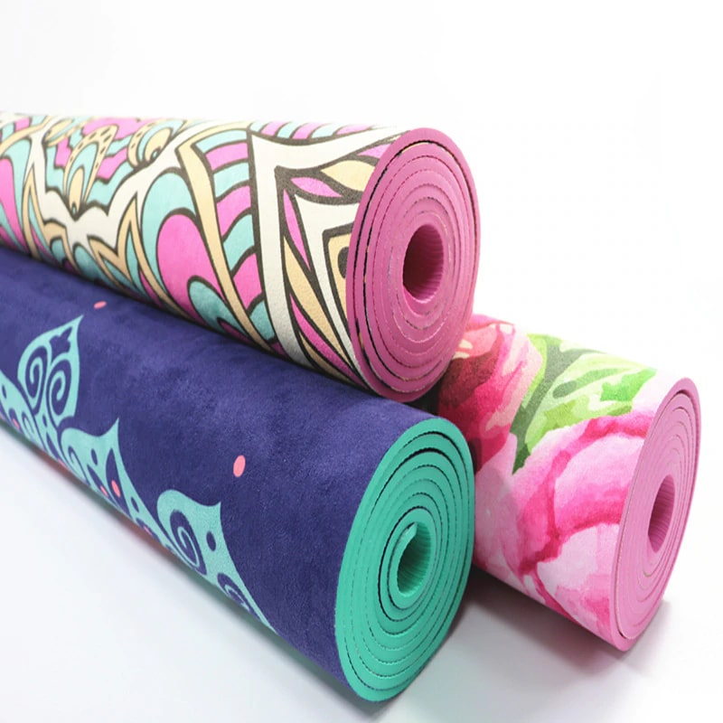 Ultra Thin Natural TPE Slip-resistant Yoga Mats Folding Fitness Mat High Temperature Suede Tra