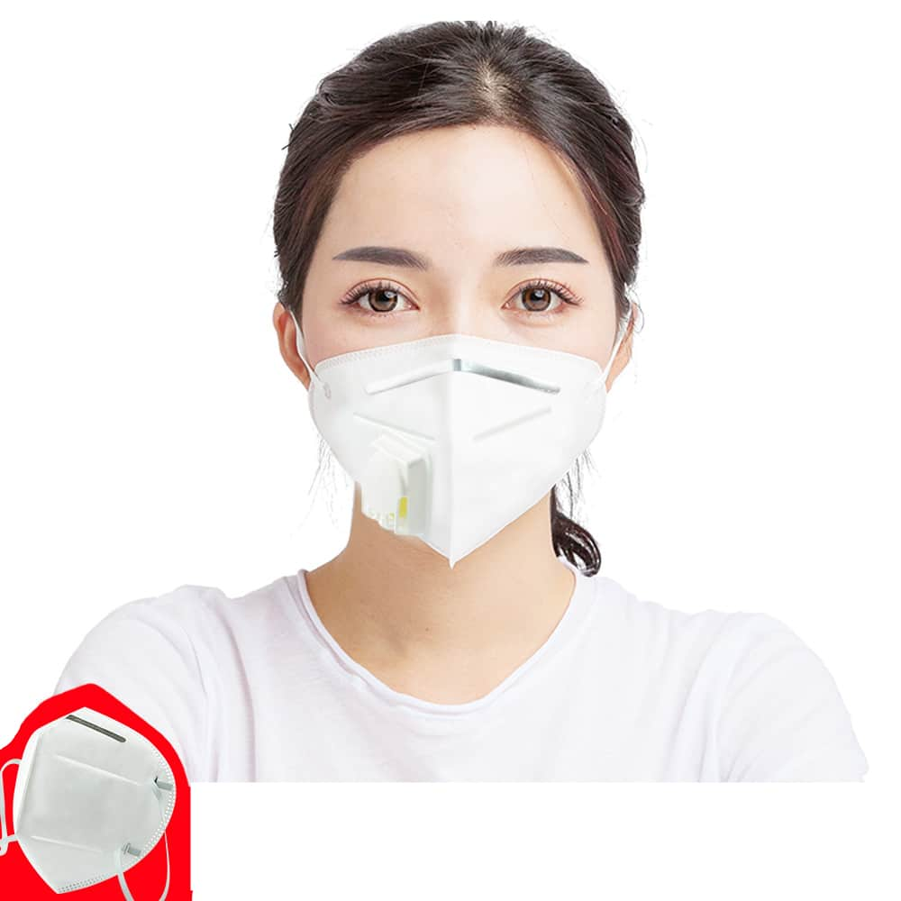 5PCS N95 Mask with 6 Layers Filter and Respiratory Valve for Bacterial Flu and Virus Protection