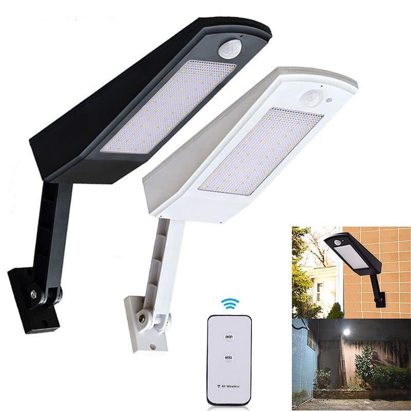 Waterproof and Motion Sensor Outdoor Solar Light with 48 LED and Rotatable Pole for Stairs and Yard