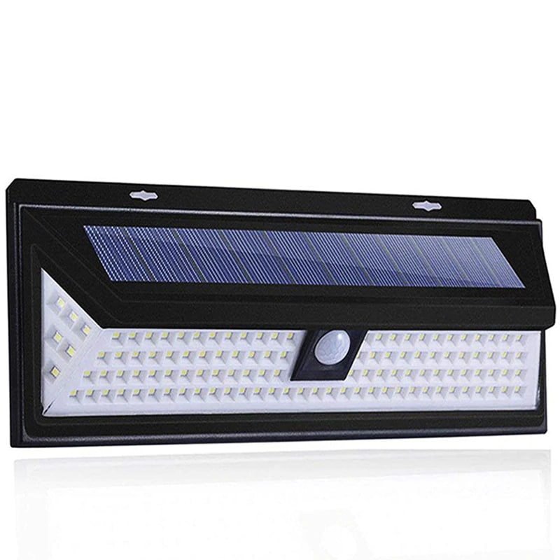 Outdoor Solar Light with 118 LED in 3 Modes and Motion Sensor Powered by Sunlight for Streets and Garden