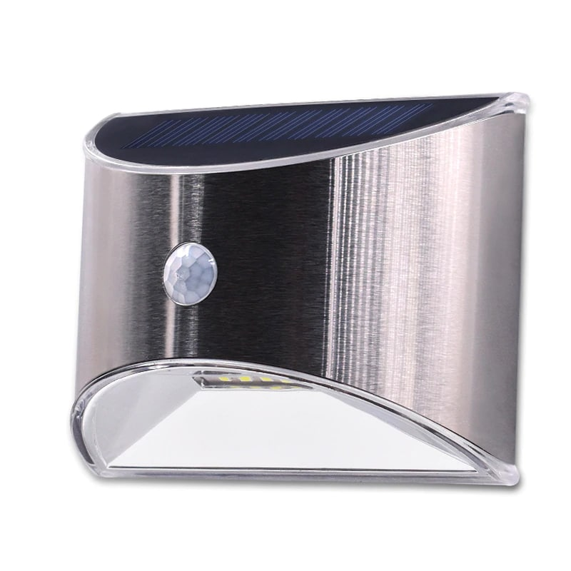 Waterproof Solar Outdoor Light with 4 LED and Motion Sensor Powered by Sunlight for Garden and Garage