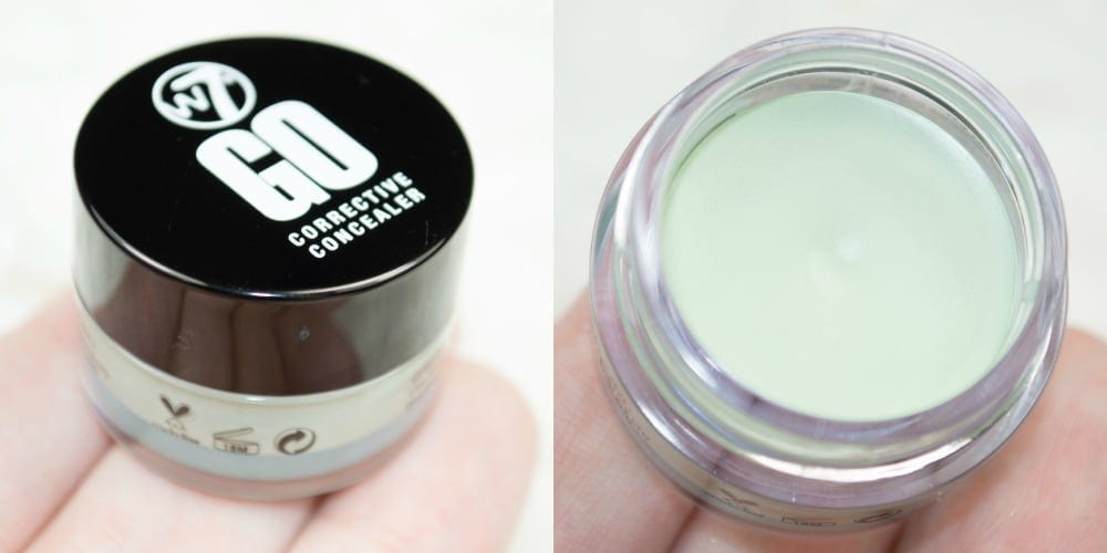 Close up of the green corrective concealer