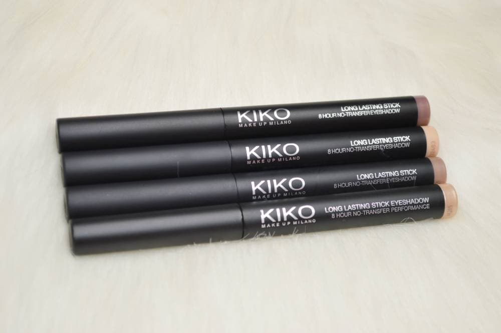 Kiko Long Lasting Eyeshadow Sticks Review and Swatches