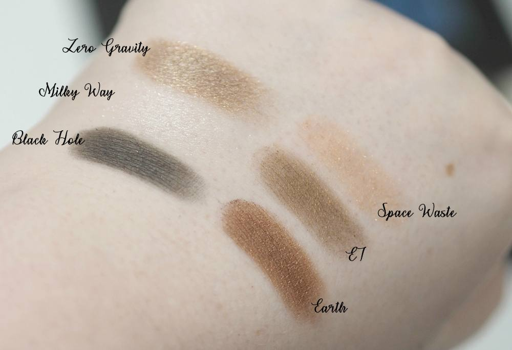 W7 Spaced Out Eyeshadow Palette Review and Swatches