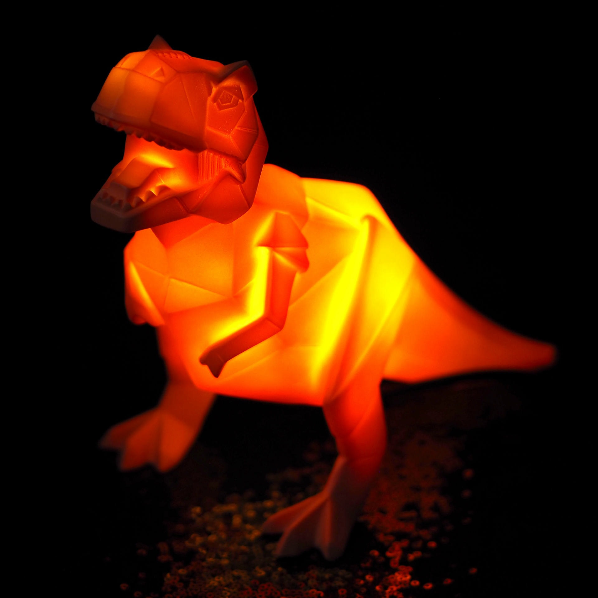 Red Candy T-Rex Dino Lamp