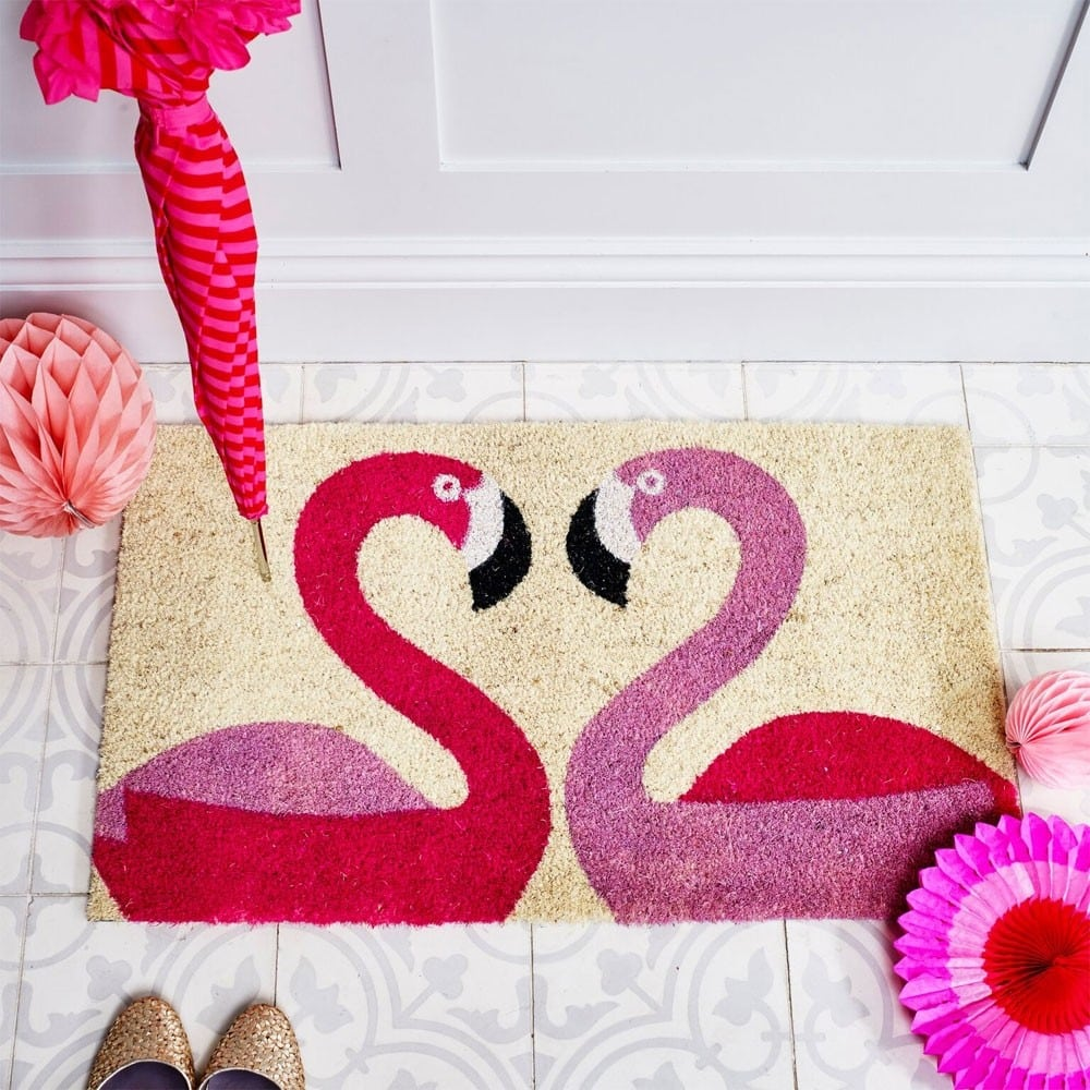 Red Candy Flamingo Doormat