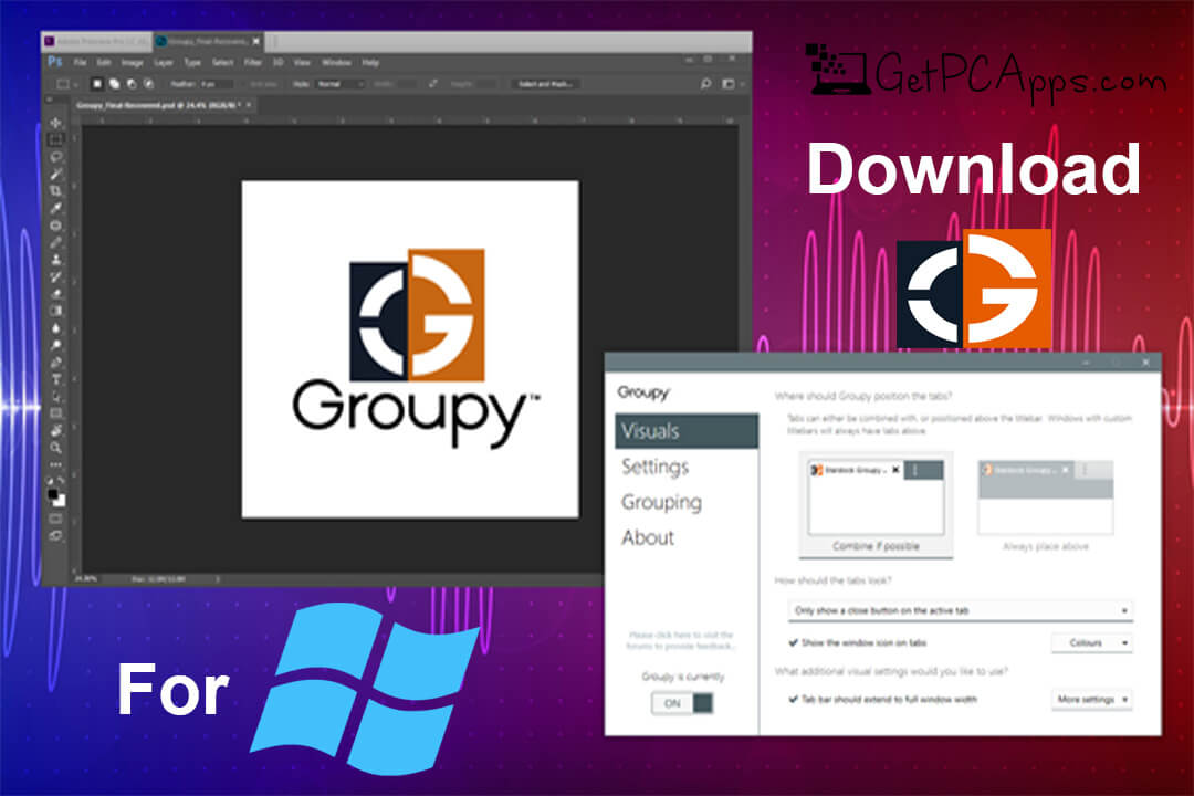 Groupy Browser Like Tabs Software for Windows 10, 8, 7 PC