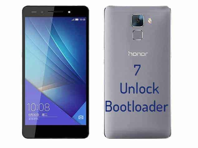 Unlock Bootloader Of Huawei Honor 7