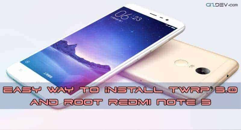 Root Redmi Note 3 SD